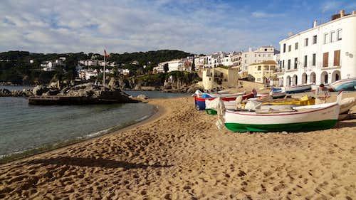 Calella de Palafrugell's beach
