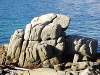 Huge granitic rock in Calella de Palafrugell