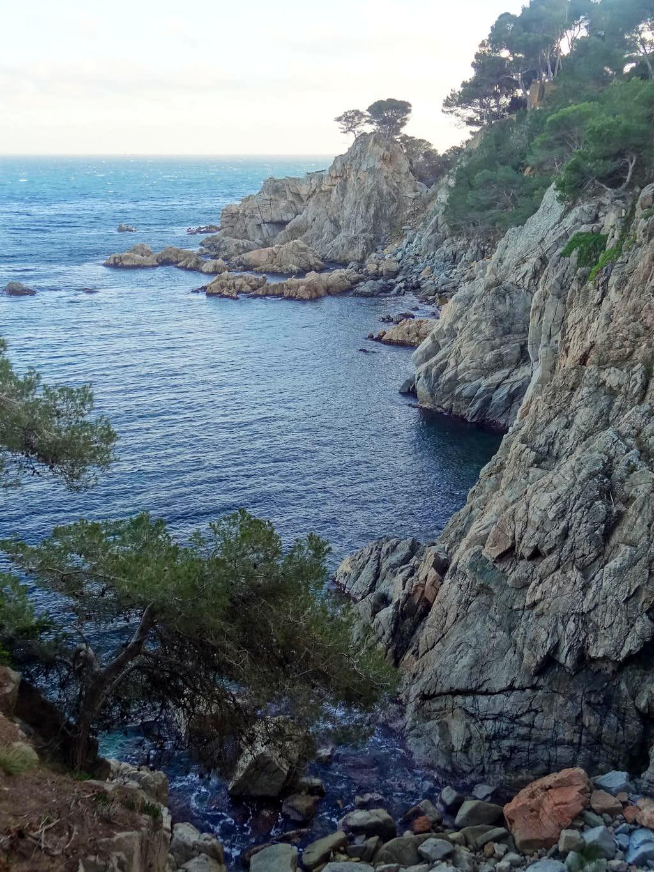 Cliffs in Cap Roig natural reserve