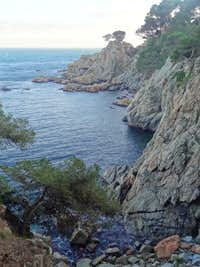 Cliffs in Cap Roig natural reserve