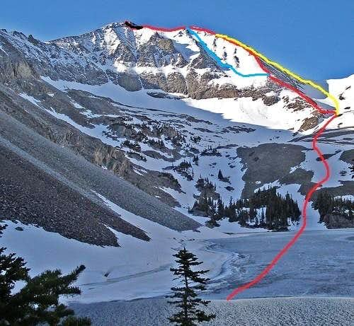 The west ridge routes on Richthofen