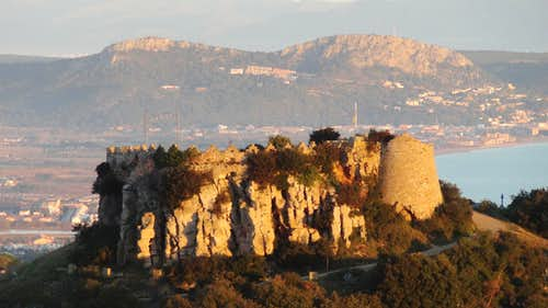 Sunrise on Begur Castle