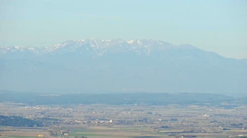 Canigou from the south in the distance