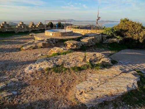 On top of Begur Castle