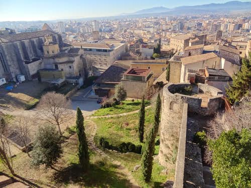 Pyrenean Forehills from Girona\'s fortifications