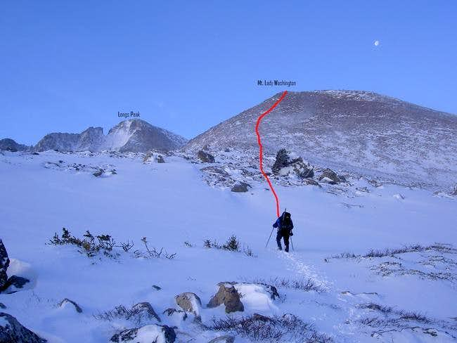 This photo shows our route to...