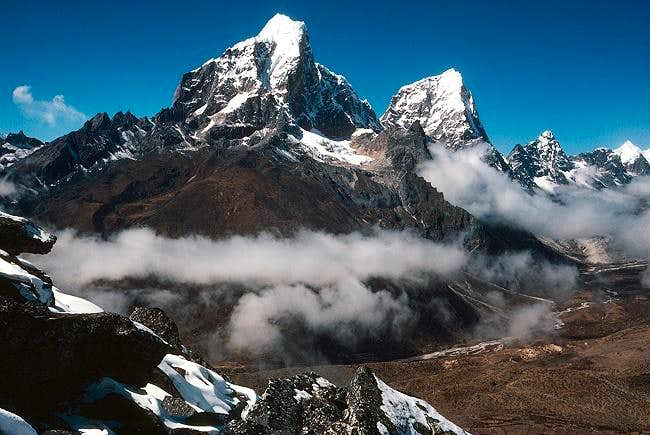 Taboche and Cholatse from the...
