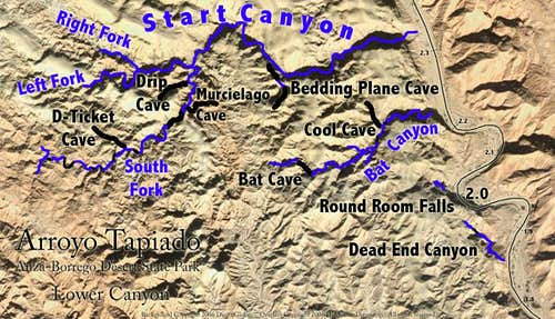 Lower Canyon Map
