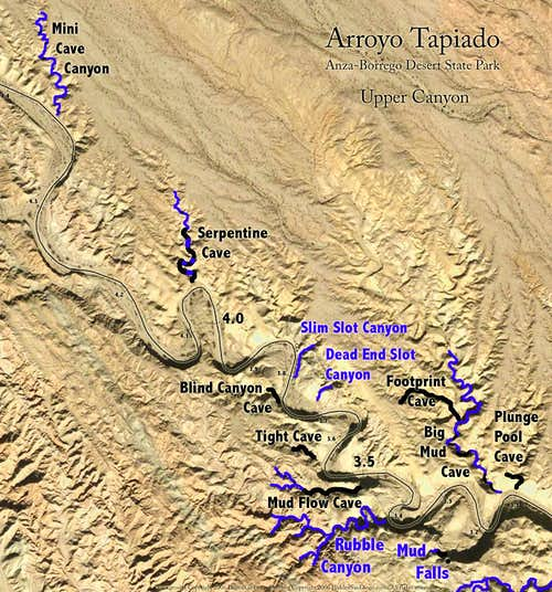 Upper Canyon Map