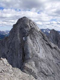 North Ridge, North Tower of Tombstone Mountain, Alpine II, 5.4