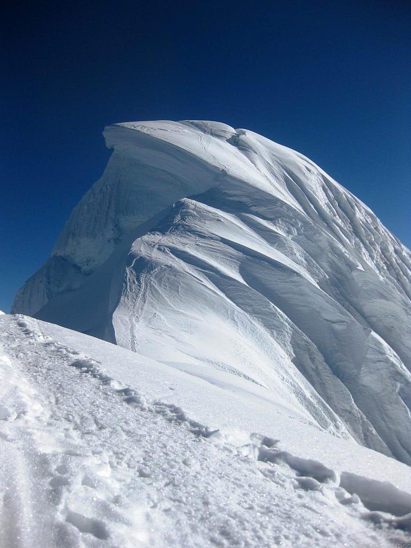 Chopicalqui summit pyramid