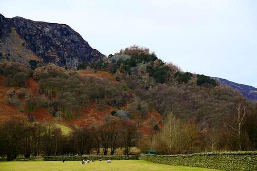 Castle Crag from Rosthwaite
