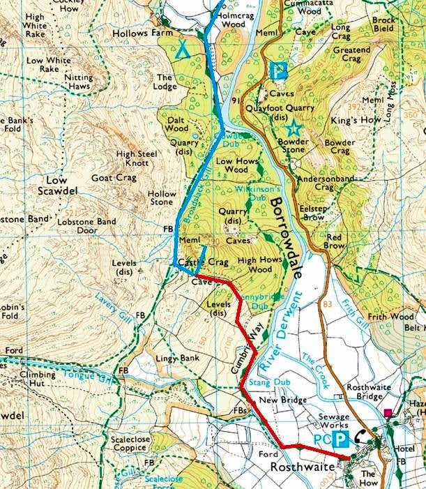 Castle Crag Routes