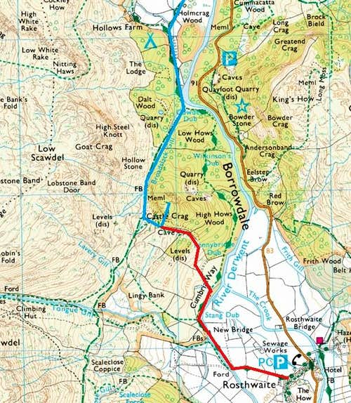 Castle Crag Routes