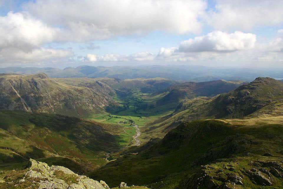 Great Langdale from Crinkle Crags