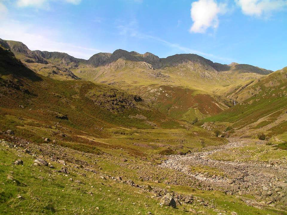 Crinkle Crags from Oxendale