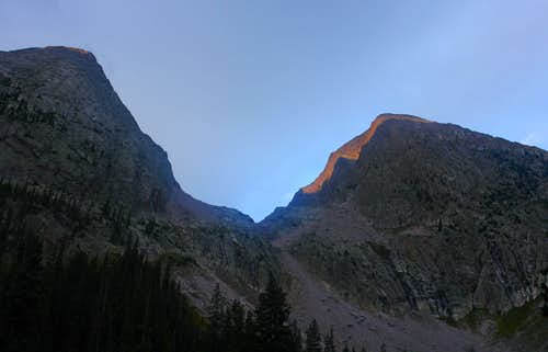Early morning light on Electric Peak