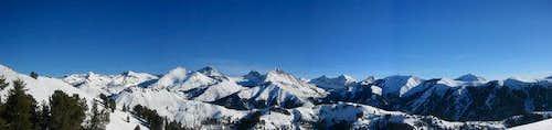 View of the Big Pioneer Peaks...