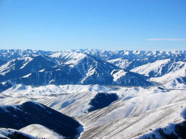 View towards the Sun Valley...