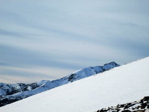 View of Electric Peak from near the summit of Sepulcher Mountain-Yellowstone National Park