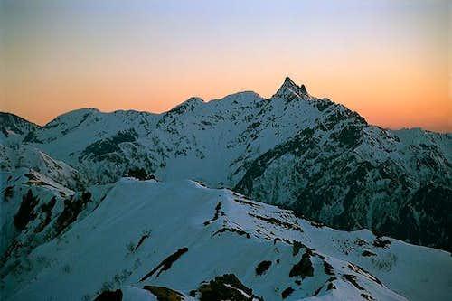 Yariga-take at sunset,seen...