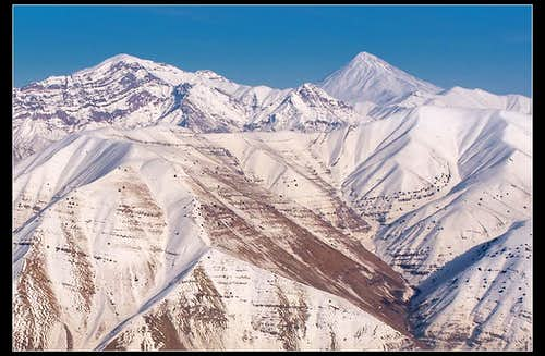 Damavand (5670m) from Dar Abad