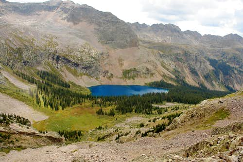 Balsam Lake from Southeast Face of Trinity Peak