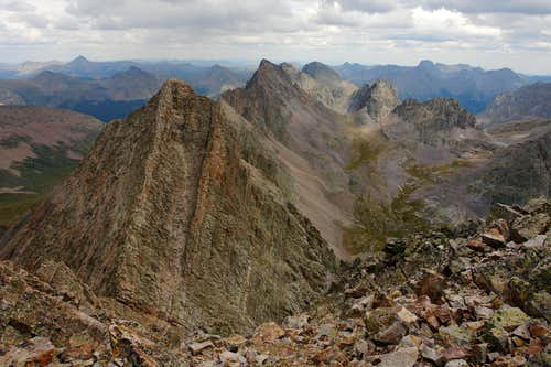 Trinity Peak: summit view southeast
