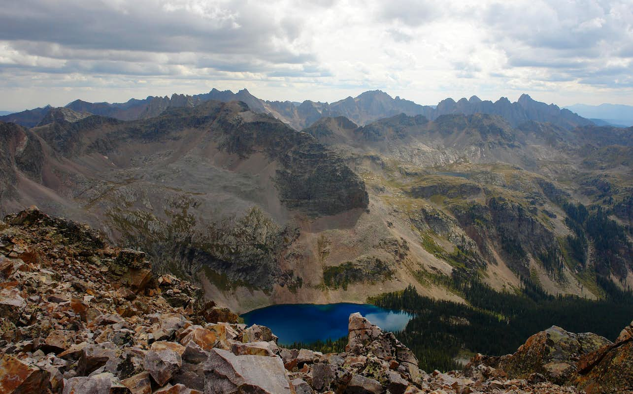 Needle Mountains And Balsam Lake From Trinity Peak