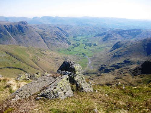 Looking down Great Langdale