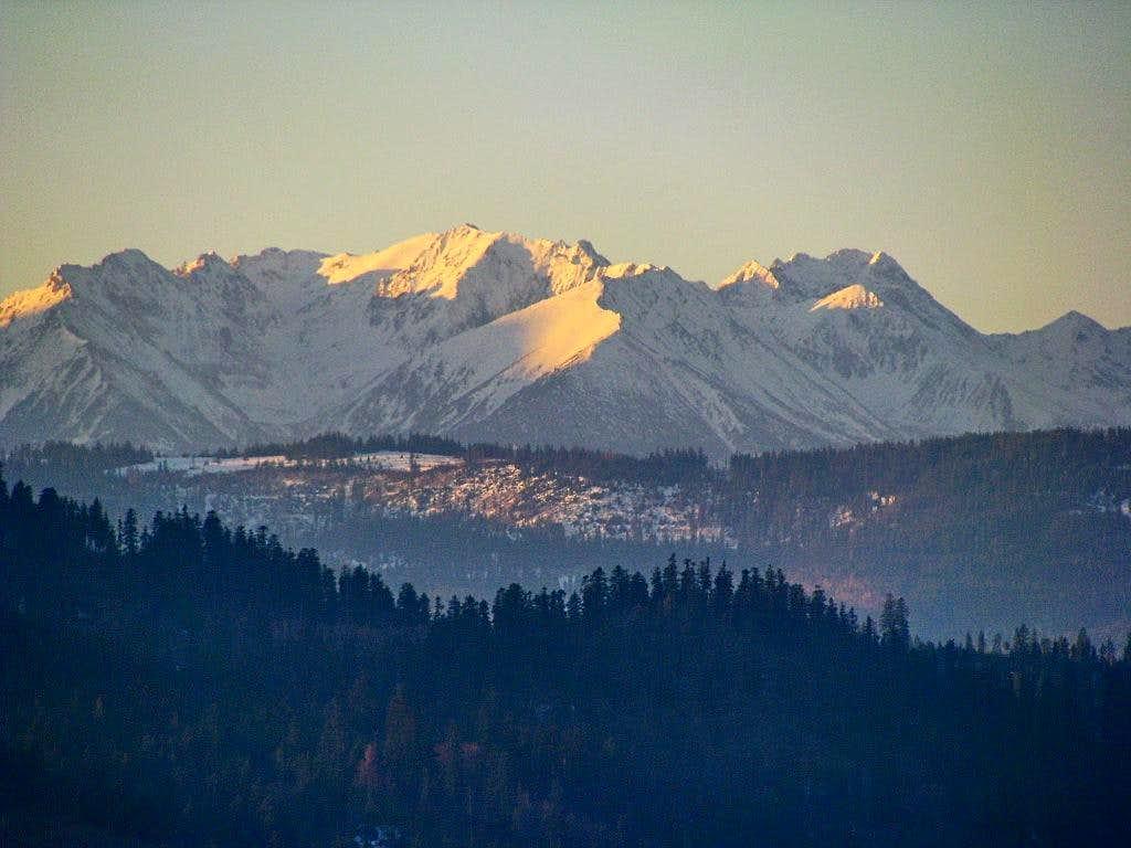 Polish Tatras in winter sun