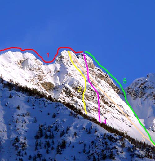 Routes to two Tops with Southern View