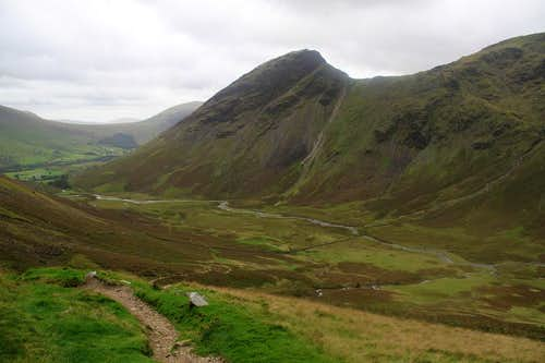 Yewbarrow from Mosedale