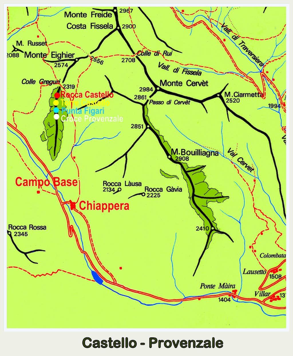 Castello-Provenzale map