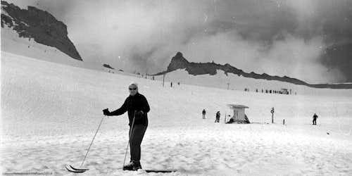 Skiing on the Glacier 1963