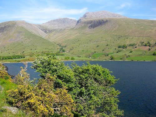 Lingmell, Scafell Pike and Scafell from across Wast Water