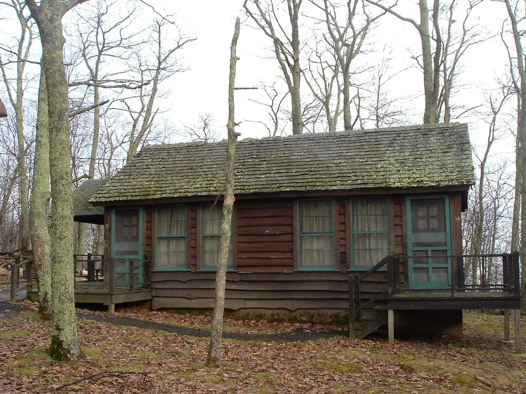 Cabin at Lewis Mountain Campground