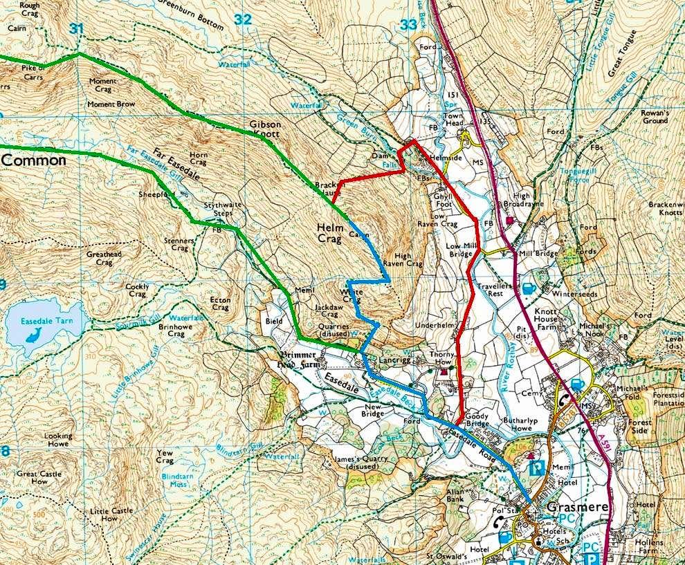 Helm Crag Routes