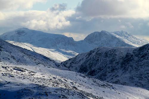 The Scafells in Winter