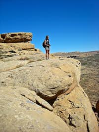 Overlooking Chaco Canyon