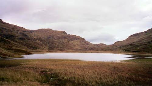 The lochan, just prior to the...
