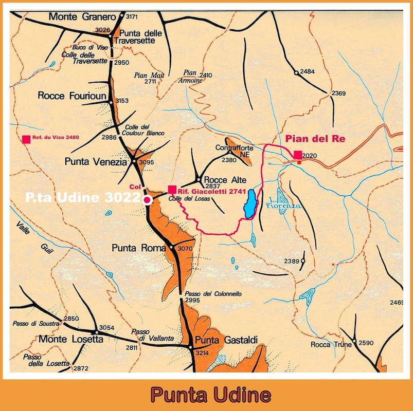 Punta Udine Map Photos Diagrams Topos SummitPost - Udine map