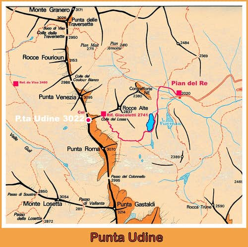 Punta Udine map