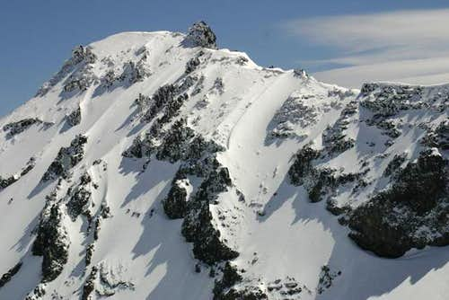 North ridge of Diamond Peak...