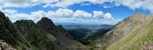 Western Panorama from Knee Knocker Pass