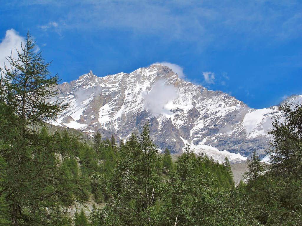 The Weisshorn seen from the Upper Zinal valley