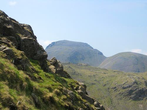 Great Gable and Green Gable from the slopes of Allen Crags