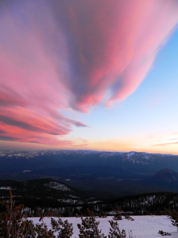Sunset on Shasta