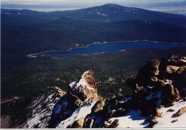 Fourmile Lake from the summit...