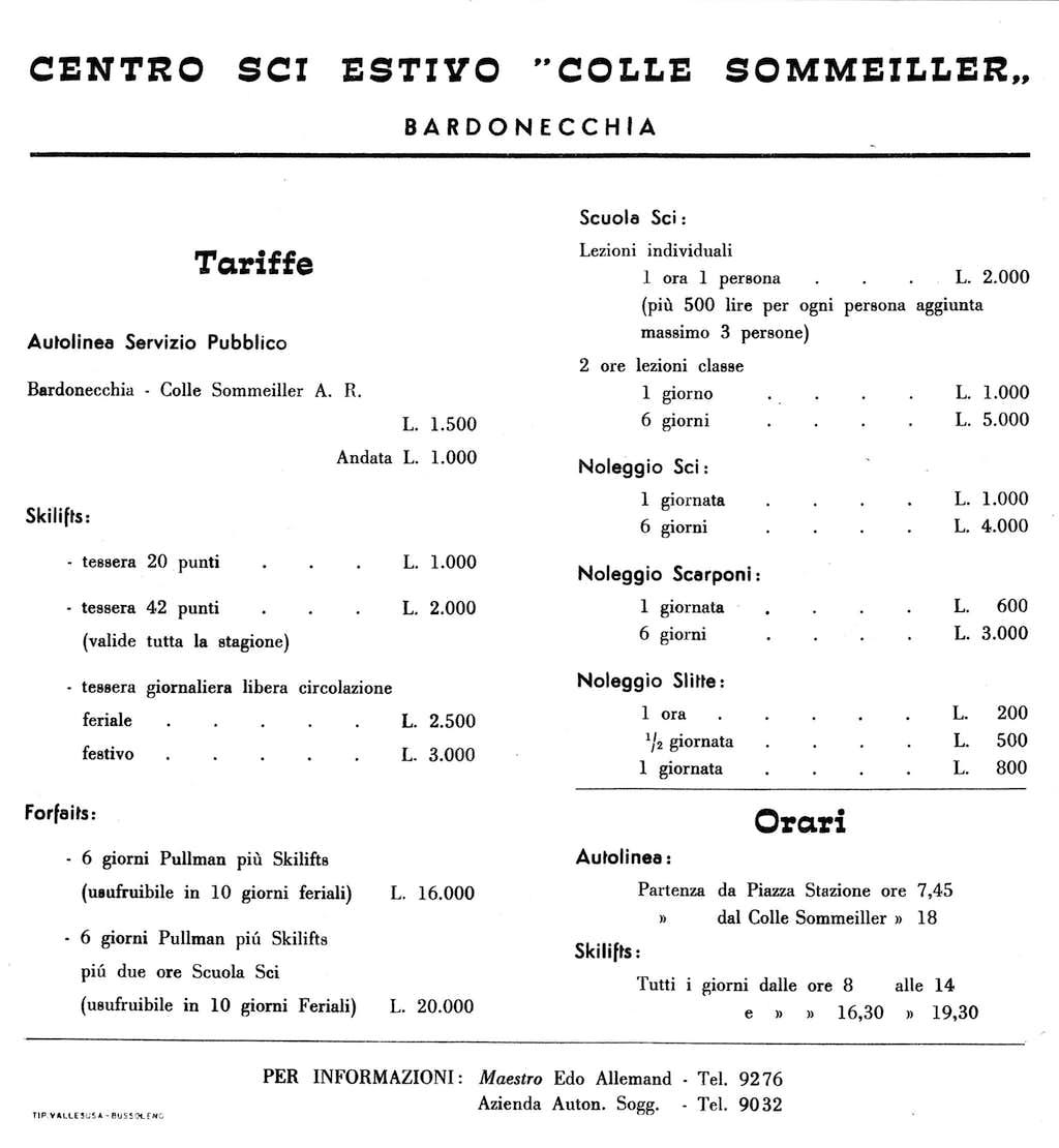 1963 - Price List.